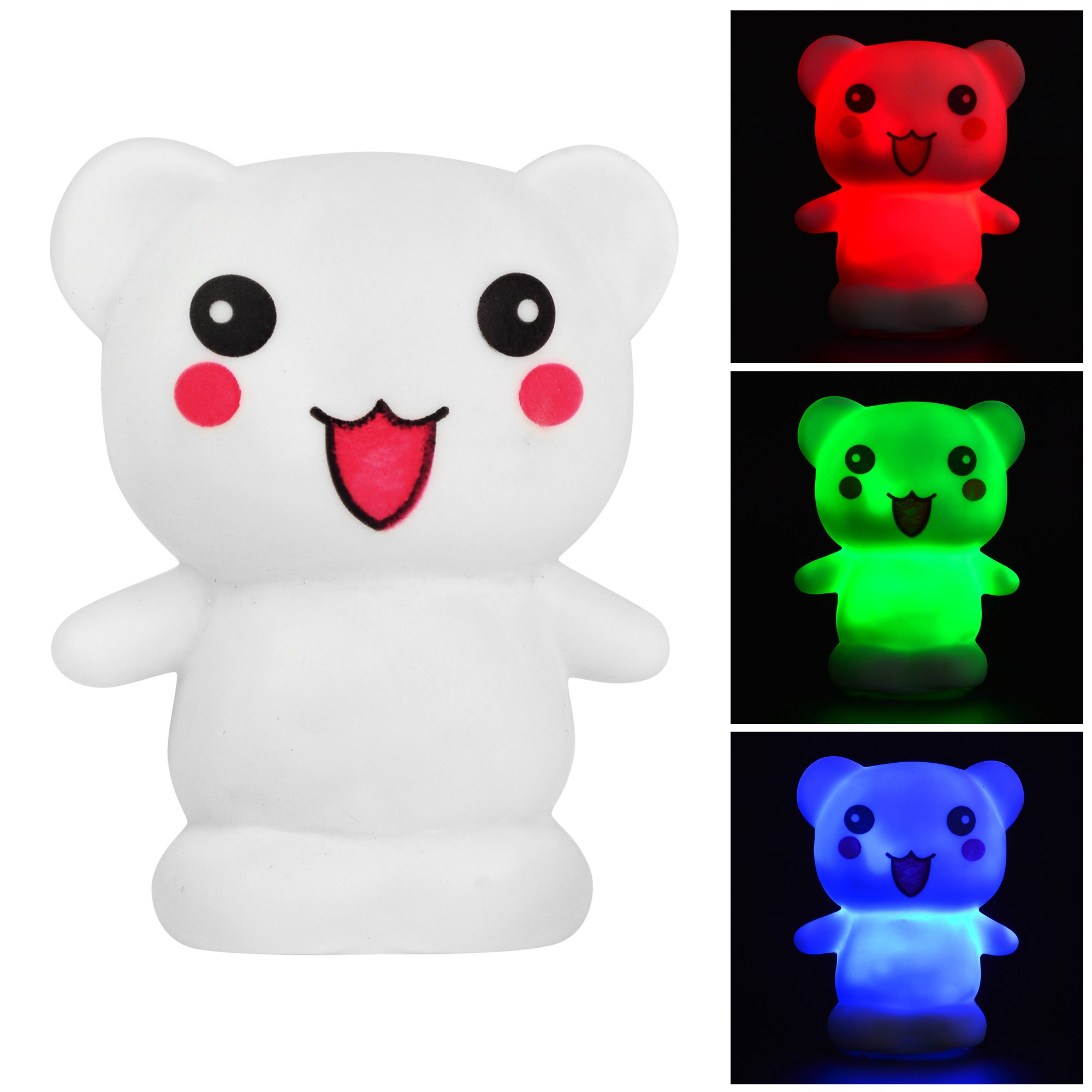 mengsled mengs cute bear 7 color changing night light