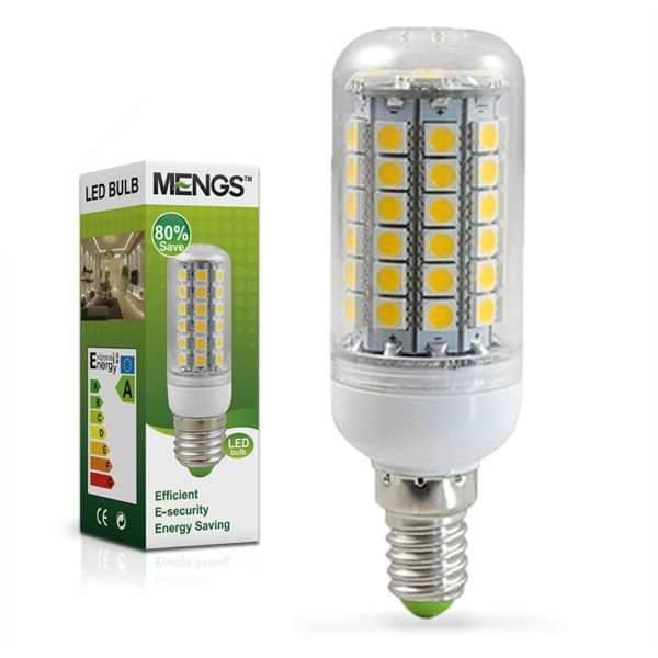 mengsled mengs e14 9w led corn light 69x 5050 smd leds led bulb in warm white cool white. Black Bedroom Furniture Sets. Home Design Ideas
