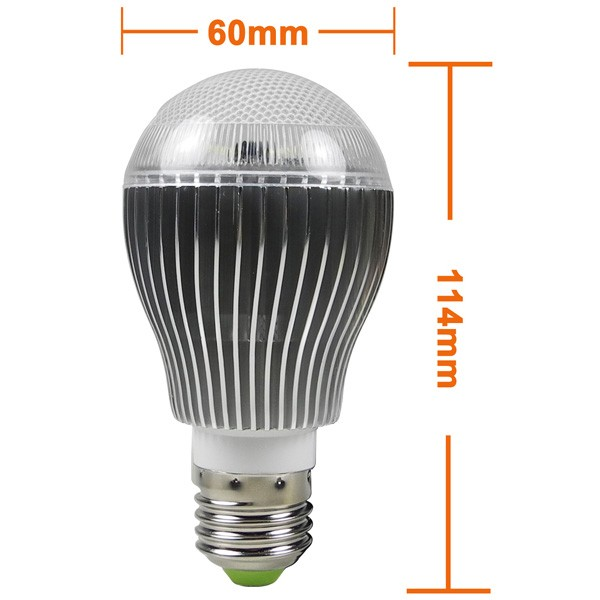 mengsled mengs e27 9w led dimmable light led globe lamp bulb in cool white with ir remote. Black Bedroom Furniture Sets. Home Design Ideas