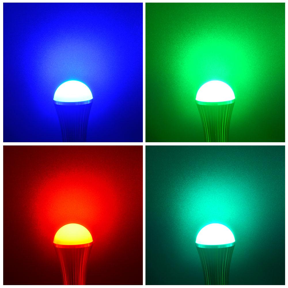 Mengsled Mengs 174 E27 7w Led Rgb Light 16 Colour Changing