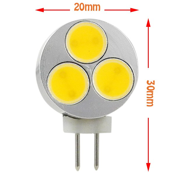 MengsLED – MENGS® G4 3W LED Light COB LEDs LED Lamp Bulb DC 12V In Warm White/Cool White Energy ...