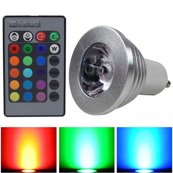 mengsled mengs gu10 3w led rgb light 16 colour changing smd leds led spotlight lamp bulb with. Black Bedroom Furniture Sets. Home Design Ideas