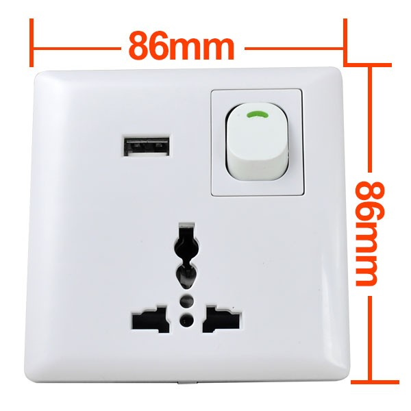 Mengsled Mengs 174 Usb Port Home Wall Face Plate Outlet