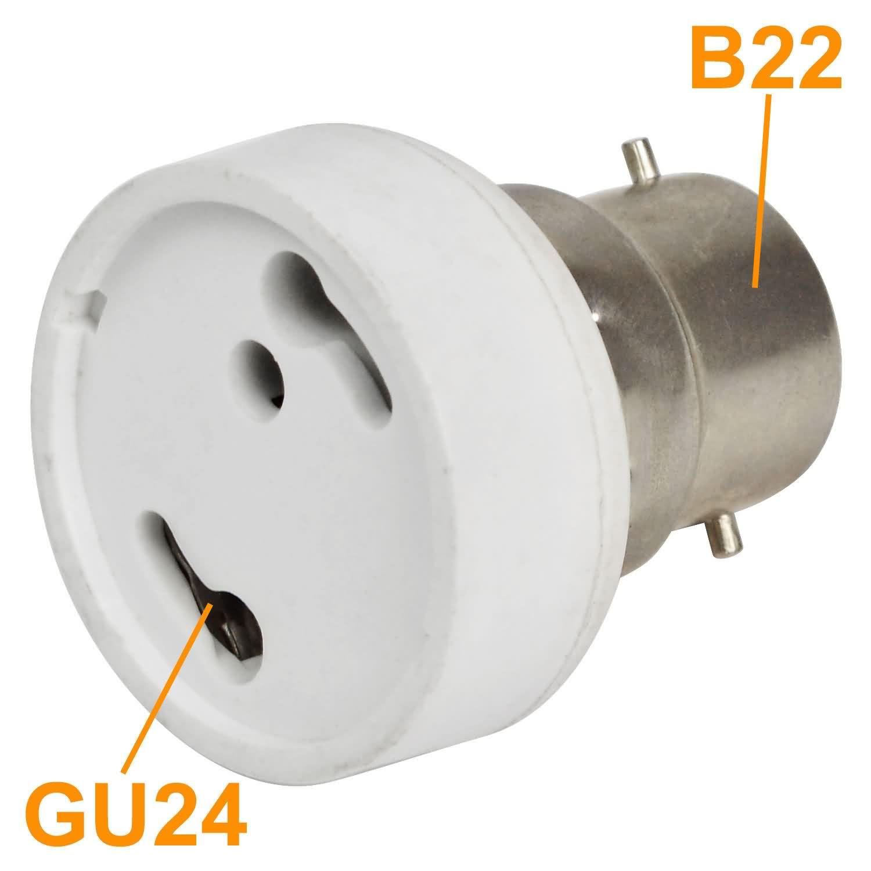mengs high quality lamp base adapter b22 to gu24 led light bulb socket converter - Gu24 Led