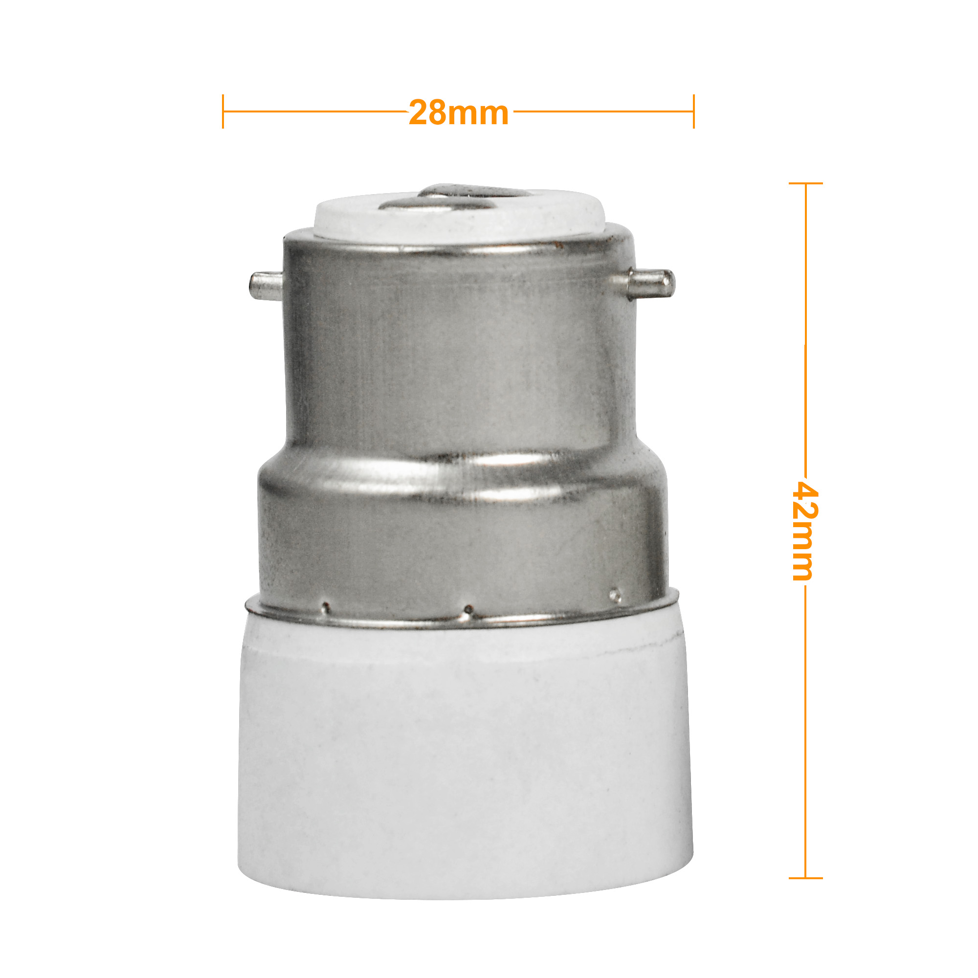mengs bayonet b22 to e14 led light lamp socket base converter small screw adapter product01