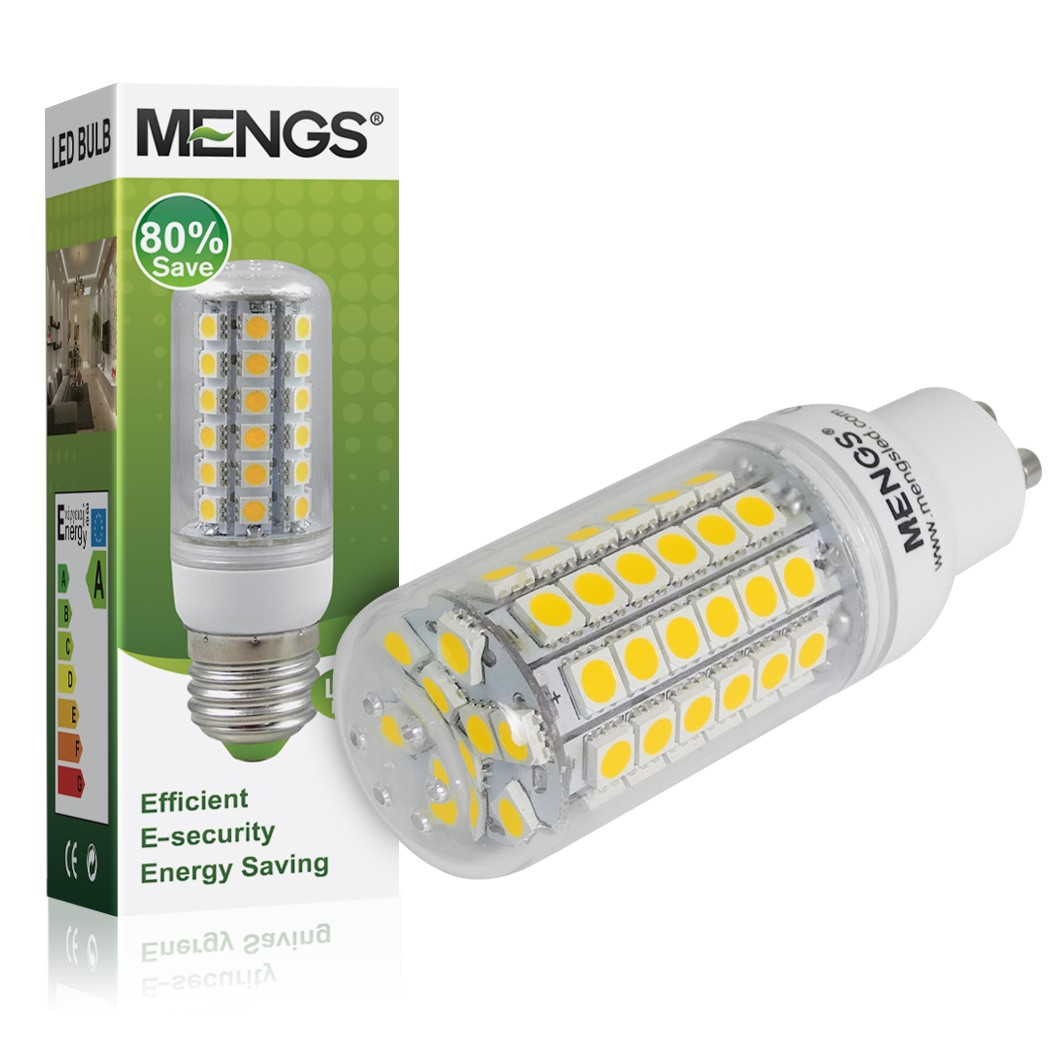 mengs gu10 9w led corn light 69x smd leds led bulb in warm whitecool white lamp