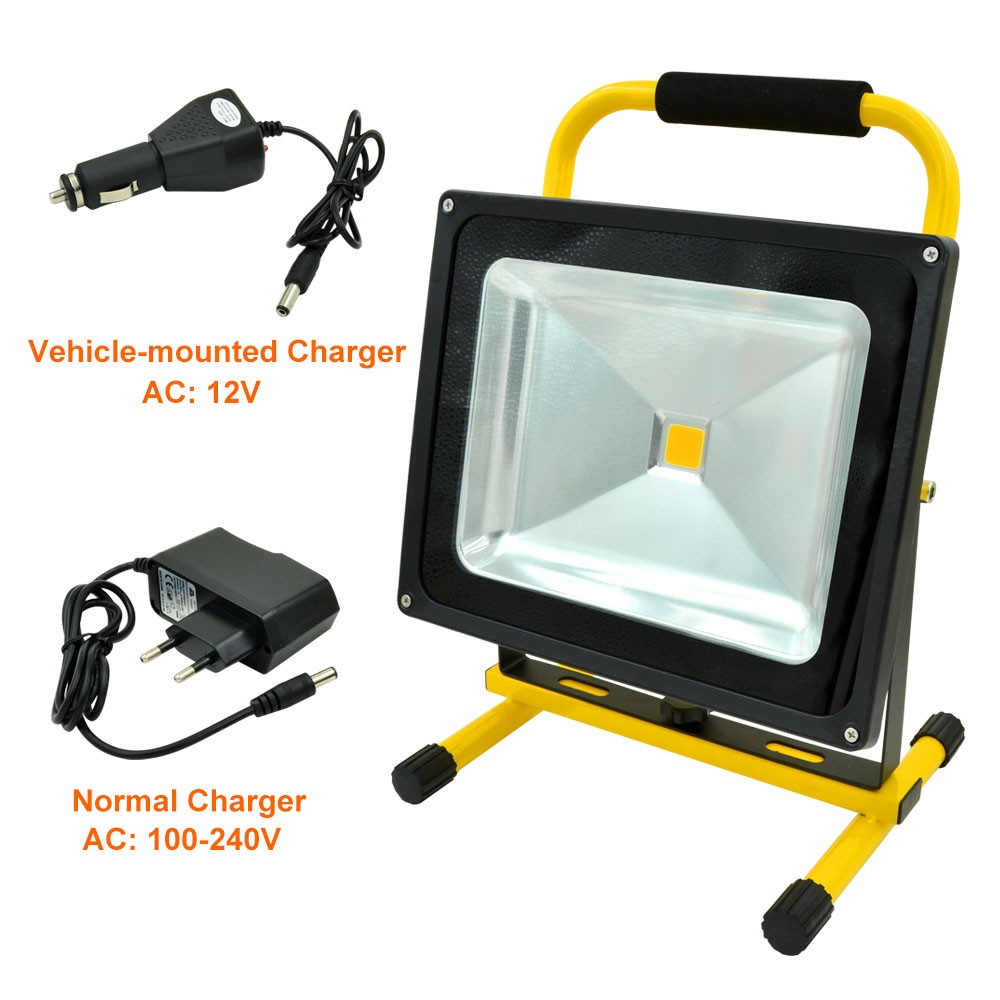 MengsLED – MENGS® 50W Rechargeable LED Flood Light (900lm, AC 100 ...