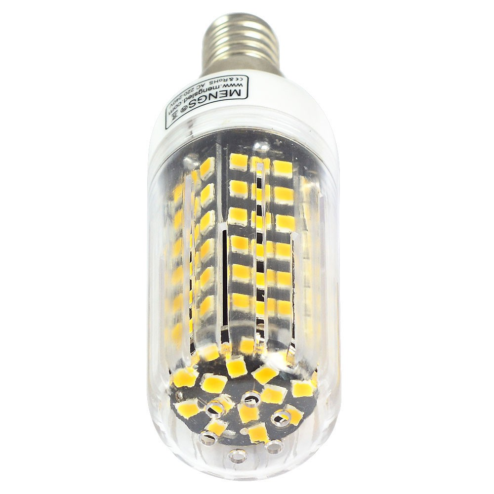 Mengsled Mengs E14 12w Led Corn Light 123x 2835 Smd Led Bulb Lamp In Warm White Cool White