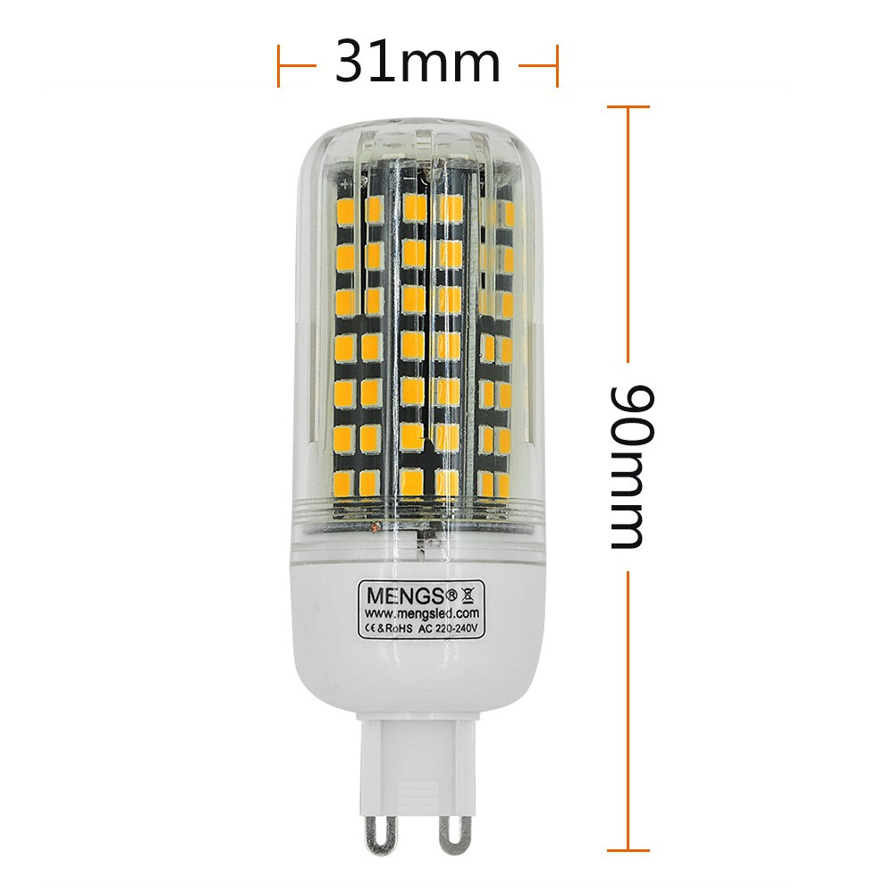 mengsled mengs g9 10w led corn light 112x 2835 smd led lamp with aluminum plate in warm white. Black Bedroom Furniture Sets. Home Design Ideas