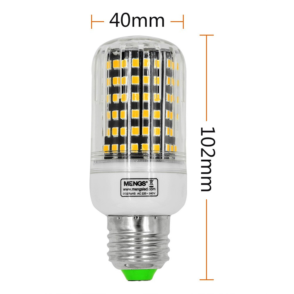 mengsled mengs e27 13w led corn light 144x 2835 smd led bulb lamp with aluminum plate in warm. Black Bedroom Furniture Sets. Home Design Ideas