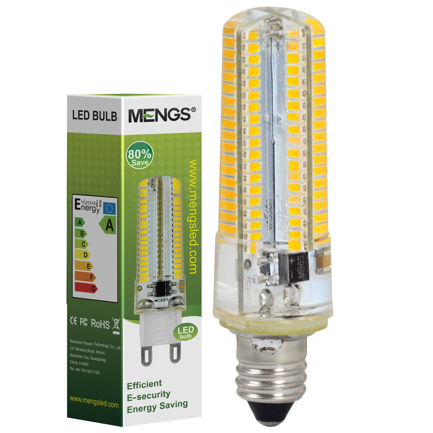 Mengsled Mengs E11 7w Led Light 152x 3014 Smd Led Bulb Lamp In Warm White Cool White Energy
