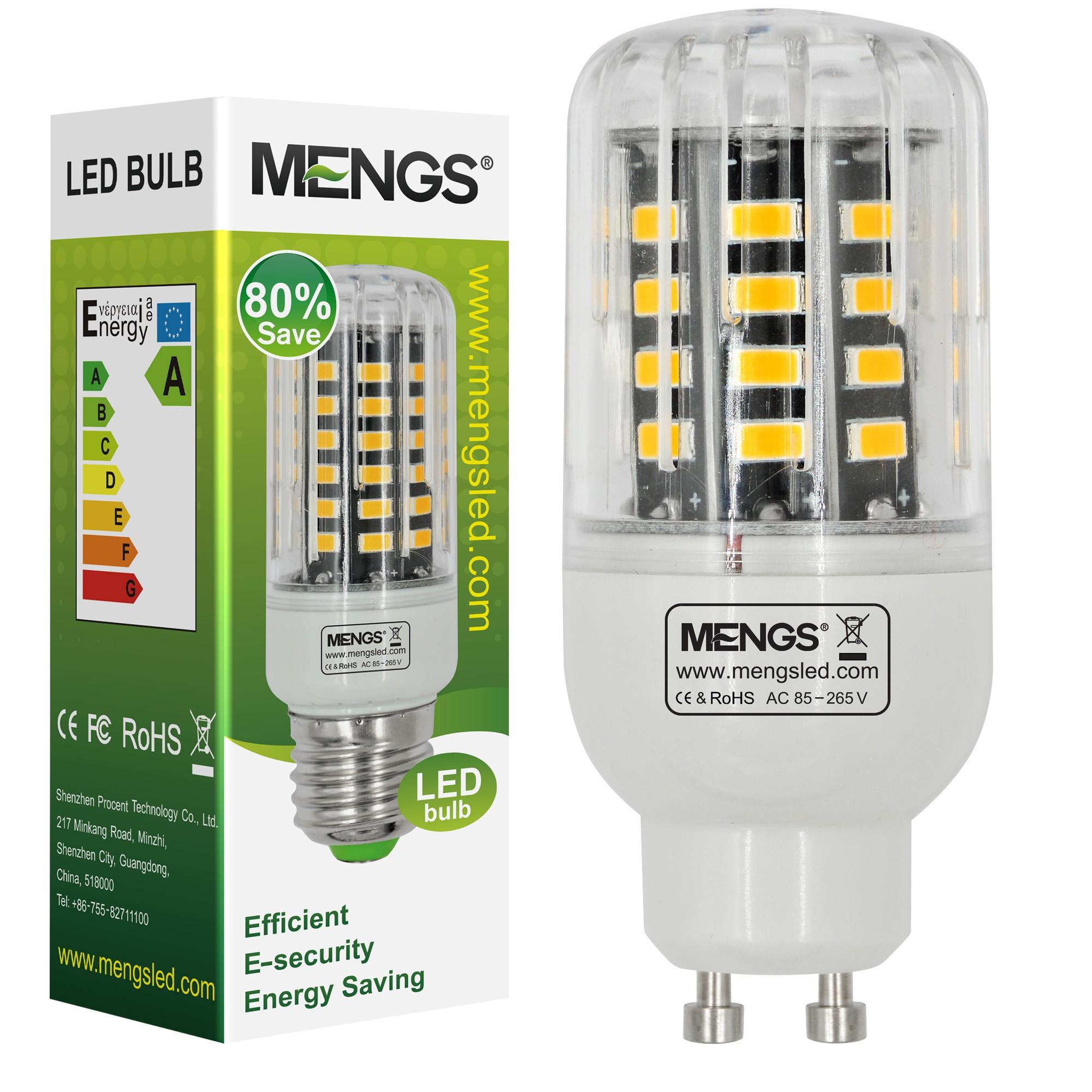 Mengsled Mengs Anti Strobe Gu10 5w Led Corn Light 40x 5736 Smd Led Bulb Lamp In Warm White