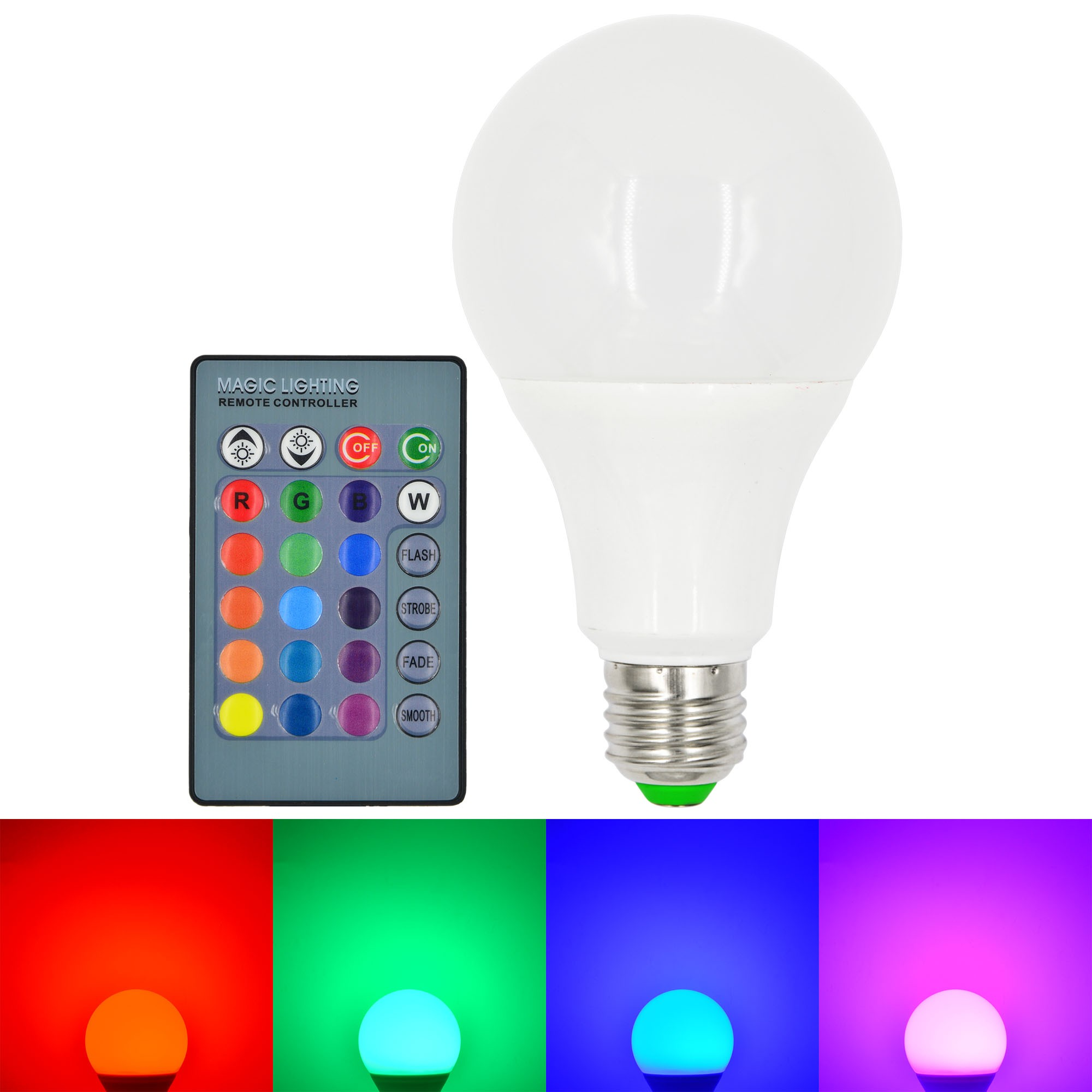 Mengsled Mengs E27 10w Led Rgb Globe Light 16 Colors Changing Led Globe Lamp Bulb Ir Remote
