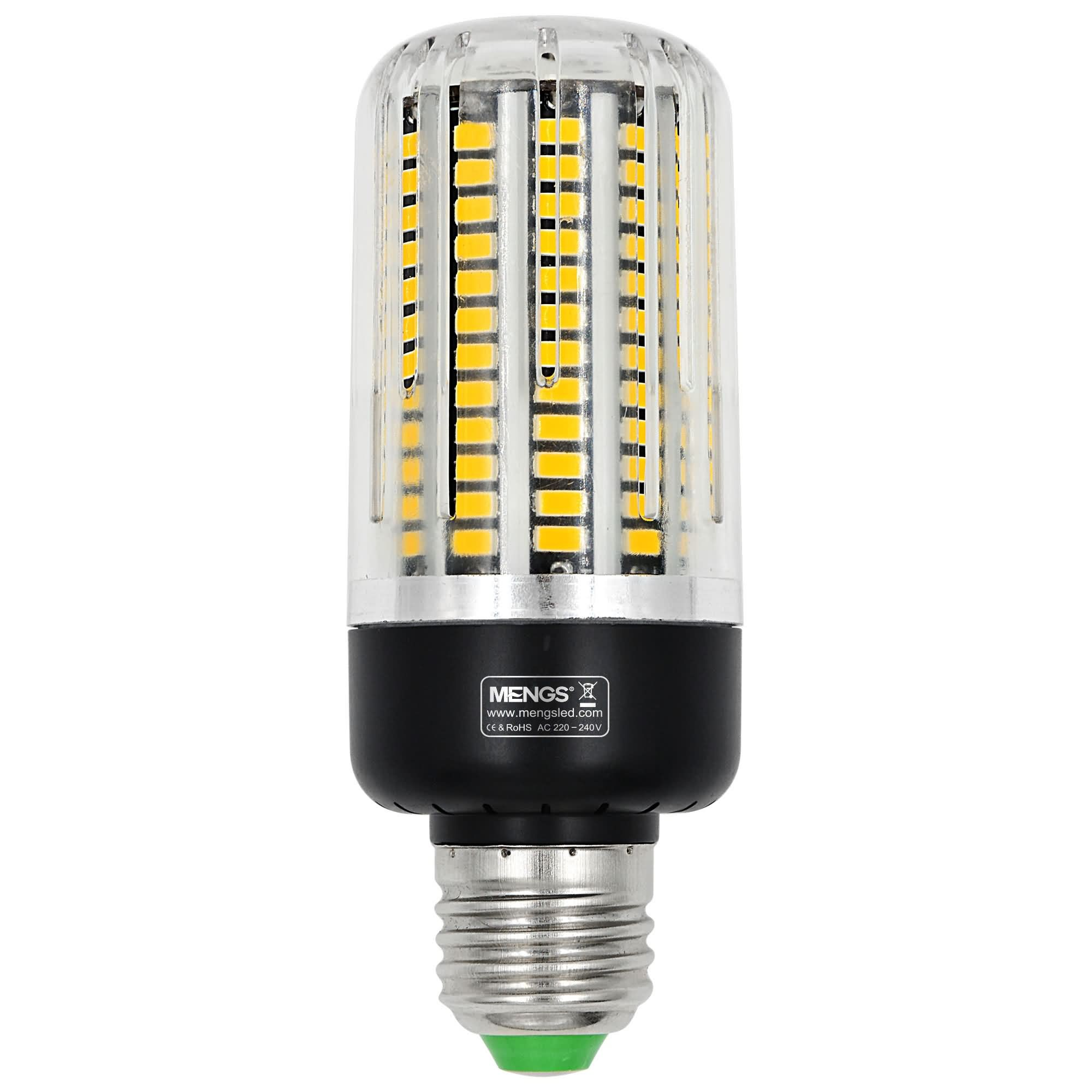 Mengsled Mengs E27 18w Led Corn Light 132x 5730 Smd With Heat Sink Led Bulb Lamp In Warm
