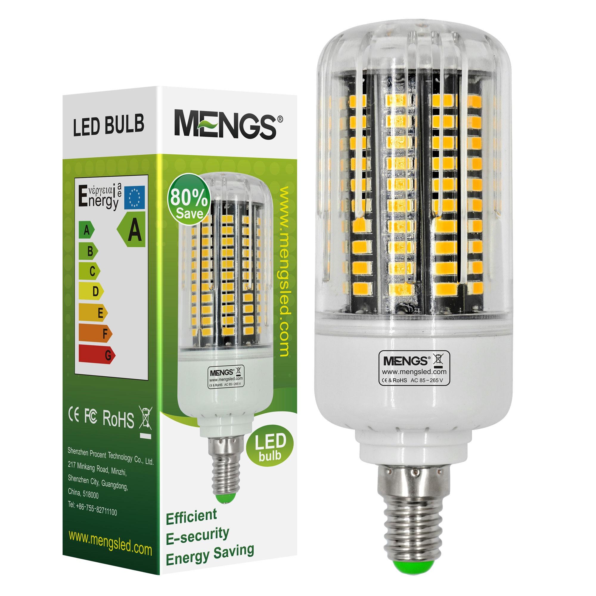 Mengsled Mengs E14 15w Led Corn Light 120x 5736 Smd Led Bulb Lamp In Warm White Cool White