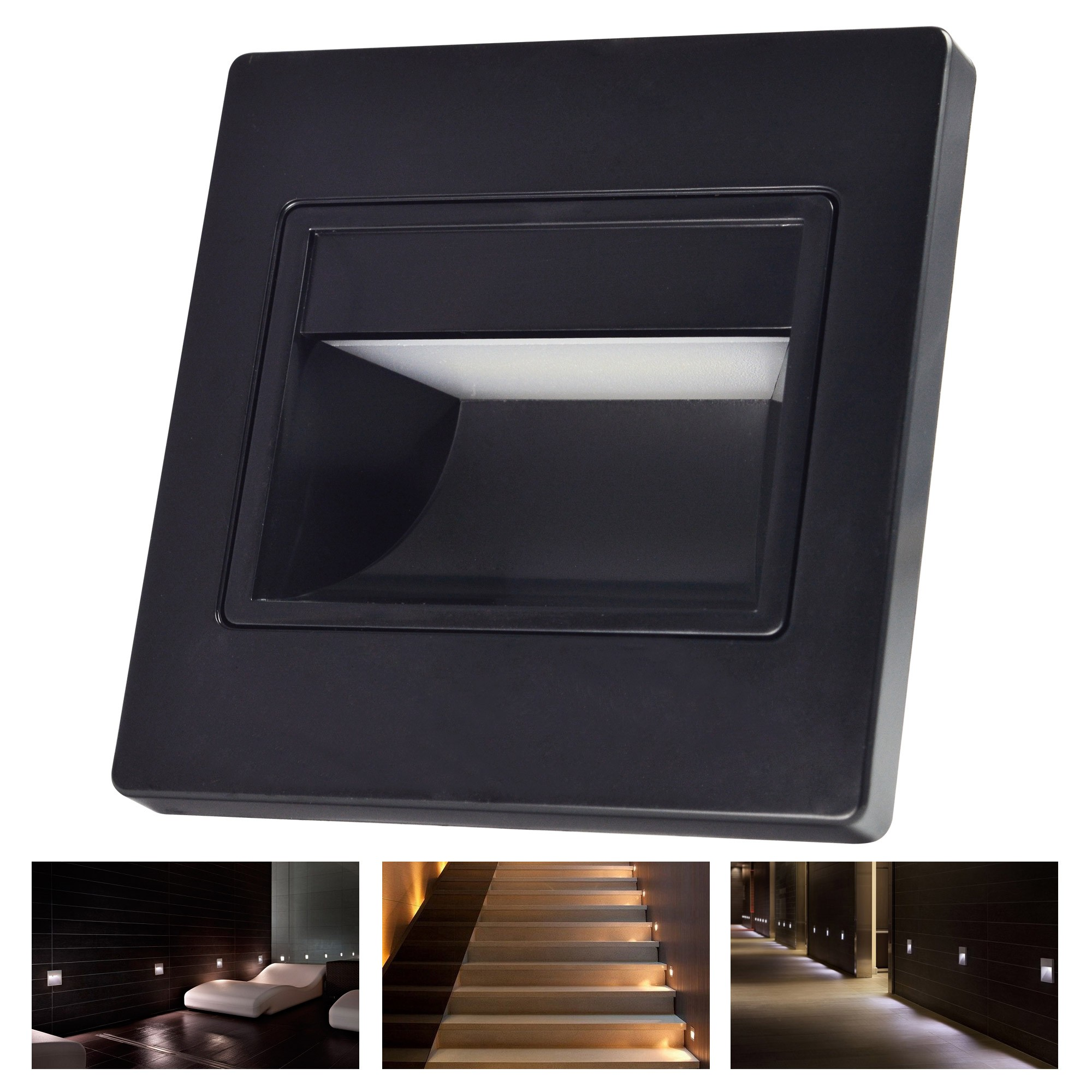 MengsLED MENGS 1.5W LED Wall Step Light 20x 2835 SMD LEDs LED Stair Lamp In Warm White/Cool ...
