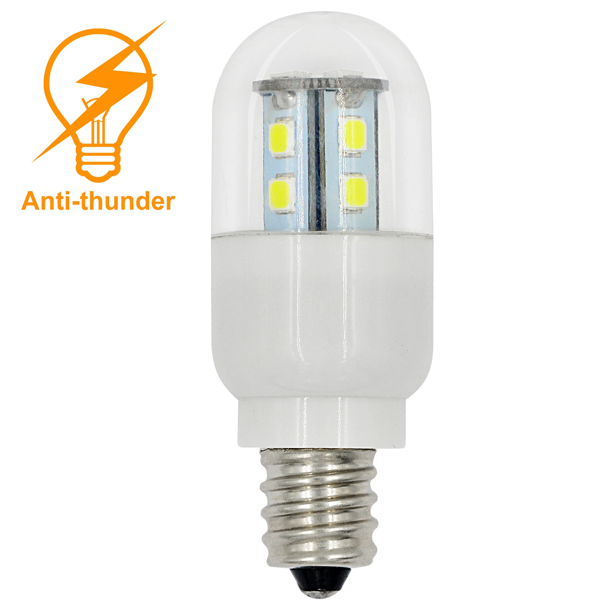Mengsled Mengs Anti Thunder E12 1w Led Light 7x 5050 Smd Led Bulb Lamp In Warm White Cool