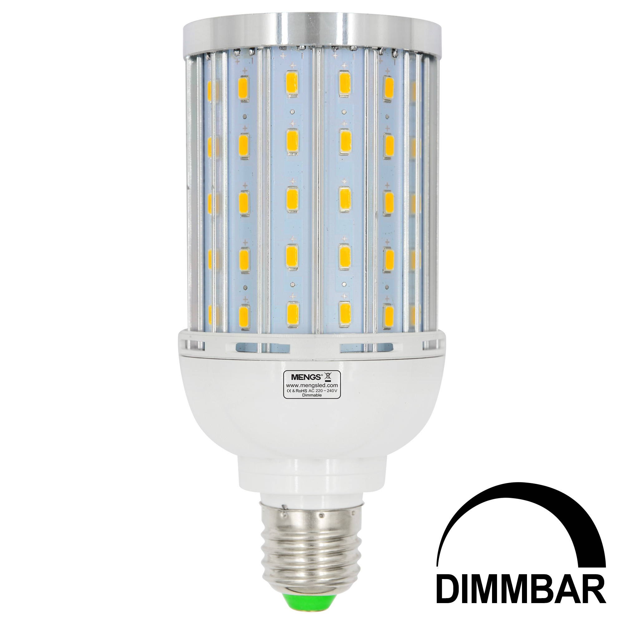 Mengsled Mengs E27 25w Led Dimmable Corn Light 85x 5730 Smd Led Bulb Lamp With Aluminum Plate