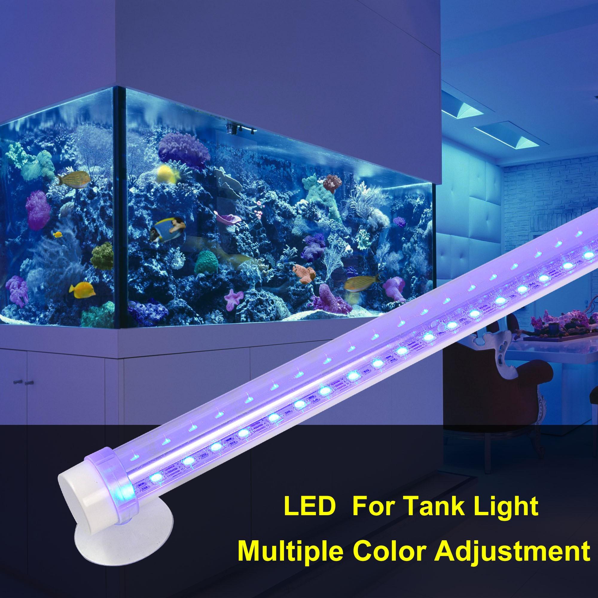 mengsled mengs 48cm 7w led waterproof ip68 rgb aquarium light 33x 5050 smd led bulb lamp. Black Bedroom Furniture Sets. Home Design Ideas