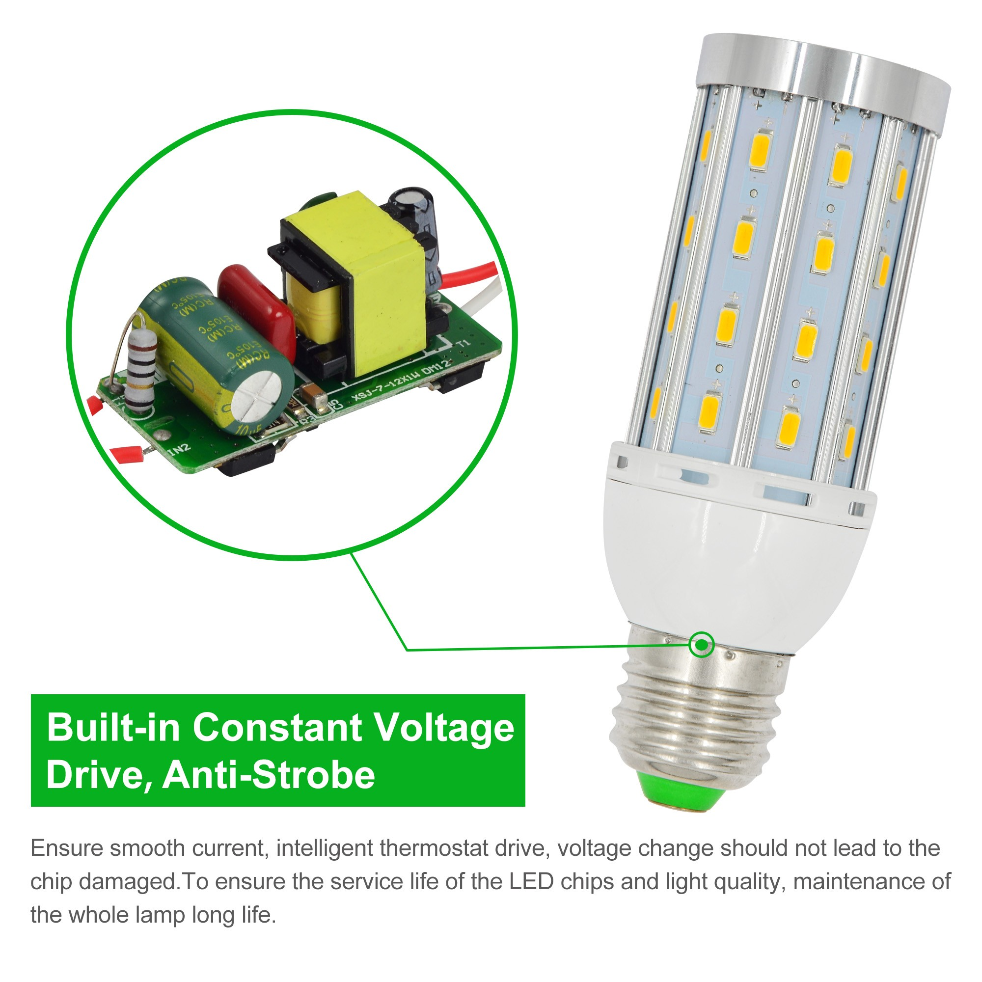 33 Great Led Lamp Circuit Diagram Good A Typical Schematic For Flasher Electronic Circuits And Diagramelectronics Mengs E W Dimmable Corn Light X Smd Bulb With Aluminum Plate Ac V In Warm Whitecool White