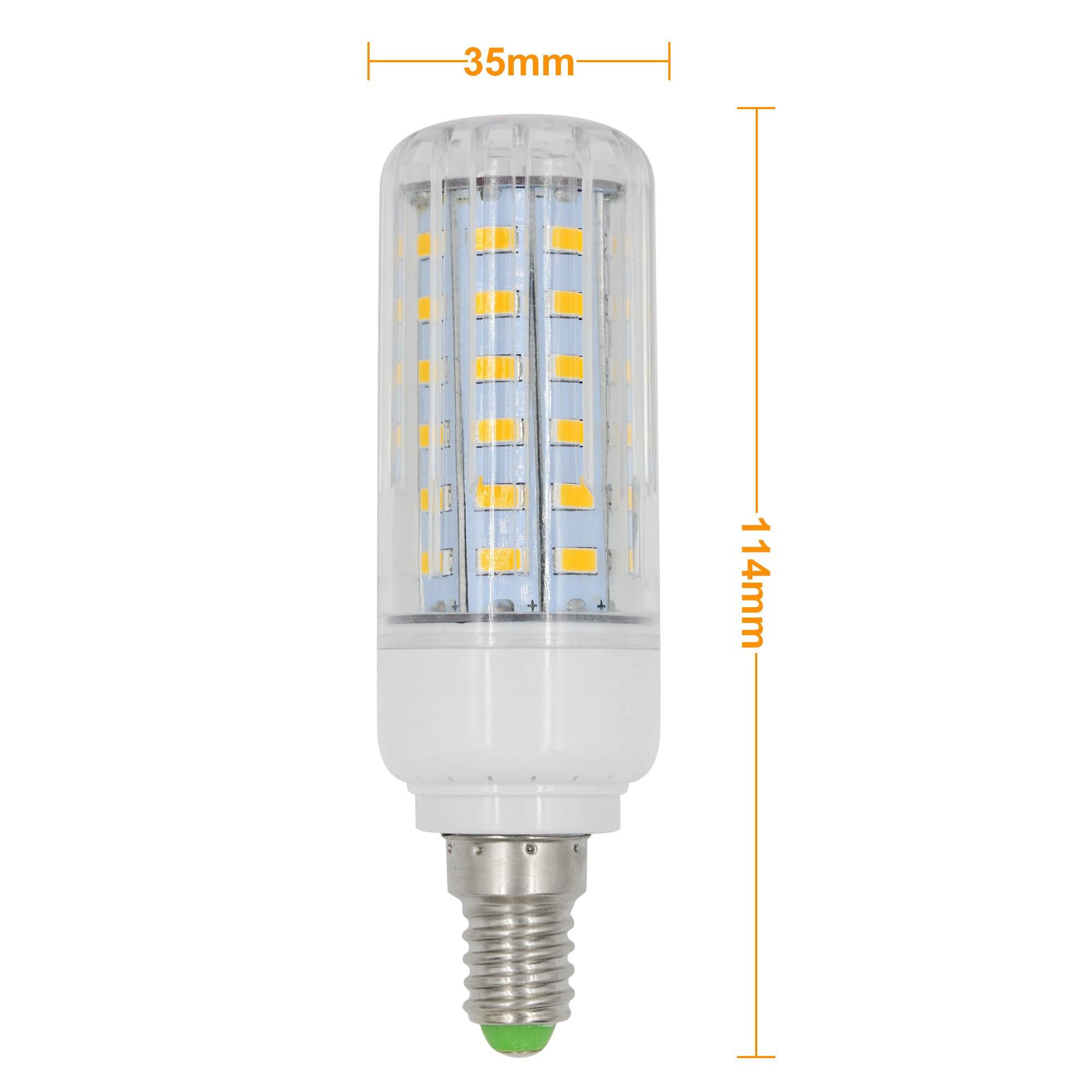 mengsled mengs e14 9w led dimmable corn light 60x 5736 smd led bulb lamp ac 220 240v in warm. Black Bedroom Furniture Sets. Home Design Ideas