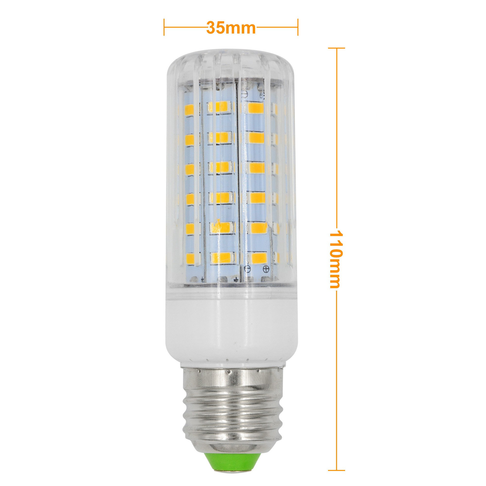 mengsled mengs e27 9w led dimmable corn light 60x 5736 smd led bulb lamp ac 220 240v in warm. Black Bedroom Furniture Sets. Home Design Ideas