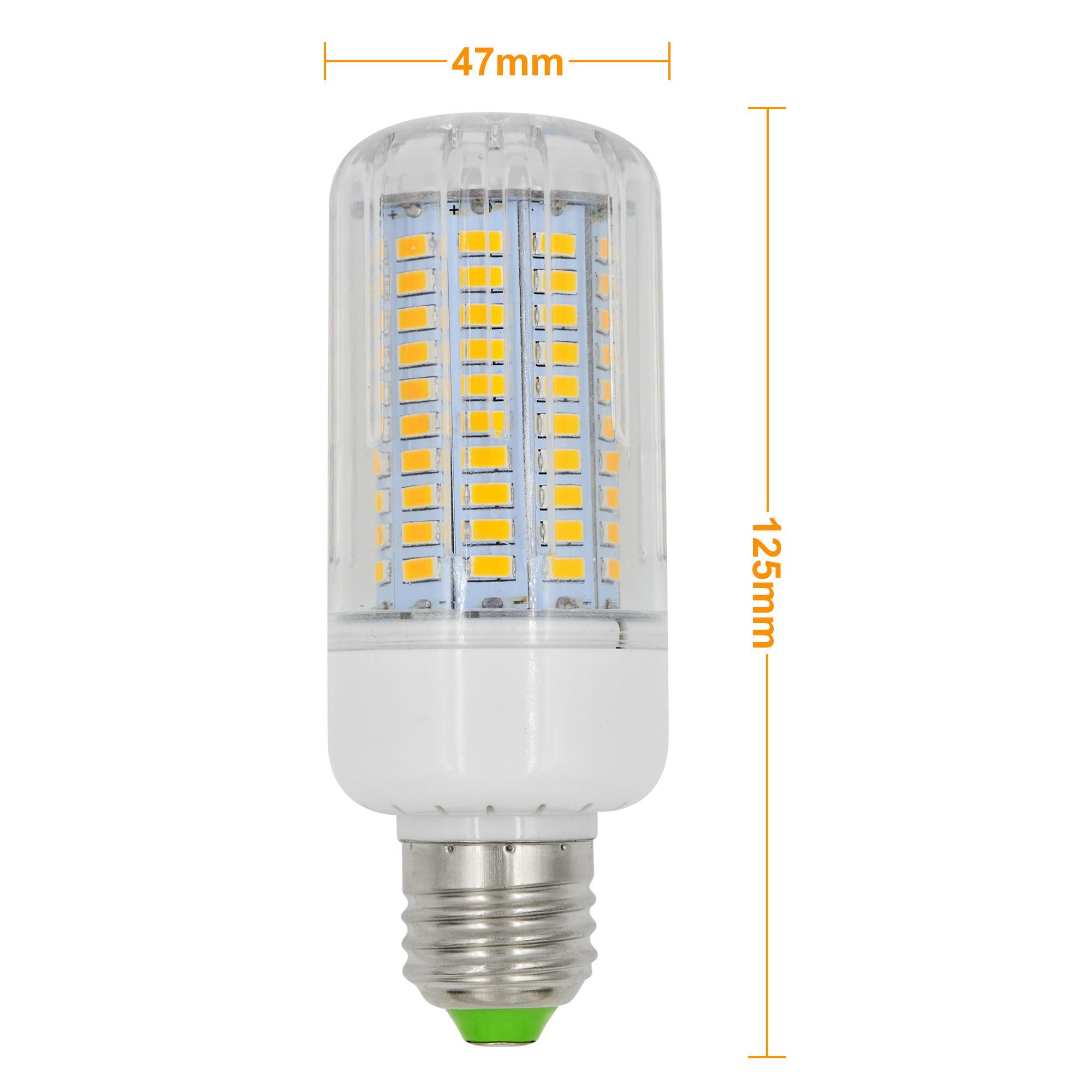 mengsled mengs e27 15w led dimmable corn light 120x 5736 smd led bulb lamp ac 220 240v in. Black Bedroom Furniture Sets. Home Design Ideas