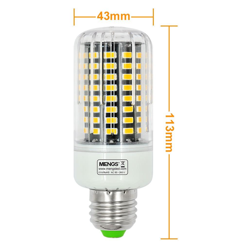 mengsled mengs anti strobe e27 12w led corn light 100x 5736 smd led bulb lamp in warm white. Black Bedroom Furniture Sets. Home Design Ideas