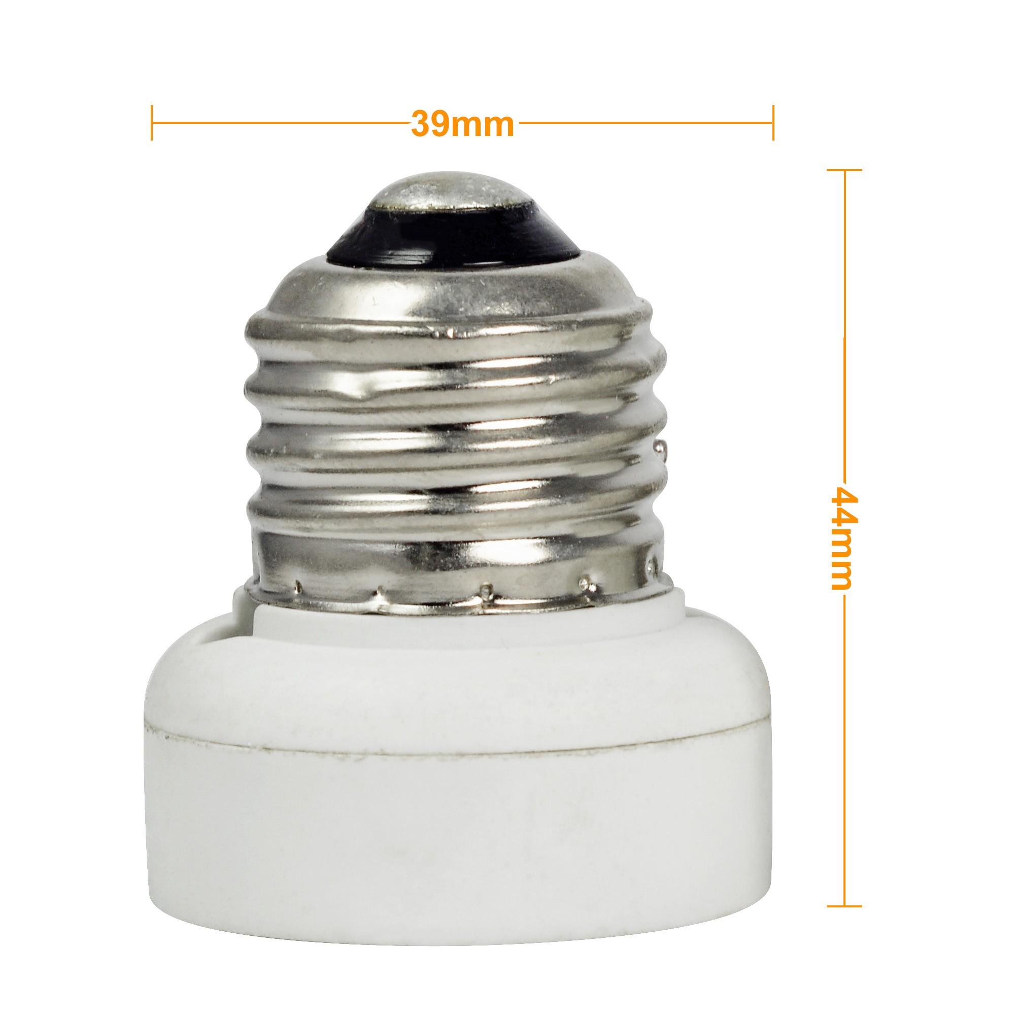 Mengsled Mengs 174 E26 To Gu24 Led Light Bulb Lamp Socket Adaptor Extender Holder