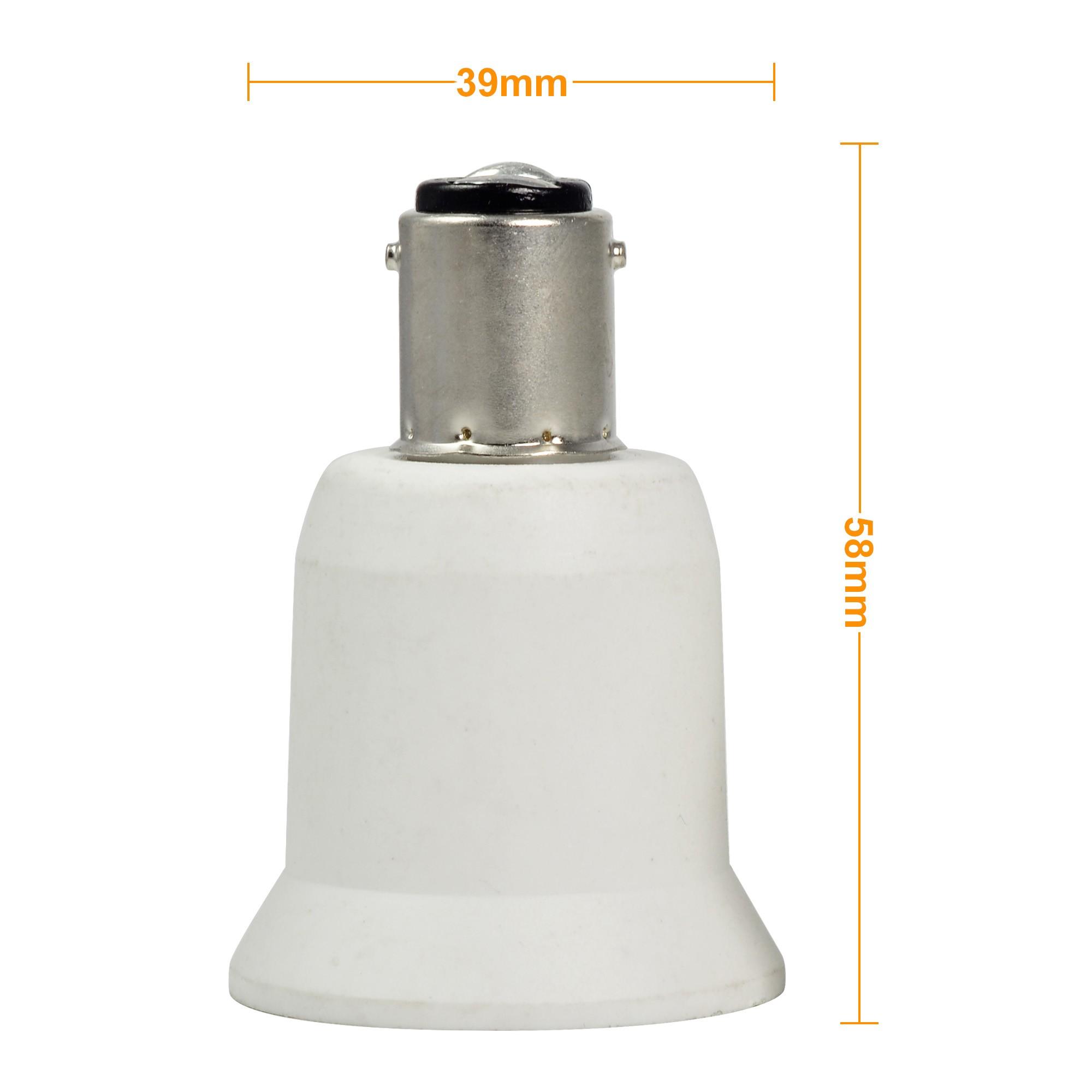 Mengsled Mengs 174 High Quality Lamp Base Adapter Ba15d To E26 Led Light Bulb Socket Converter