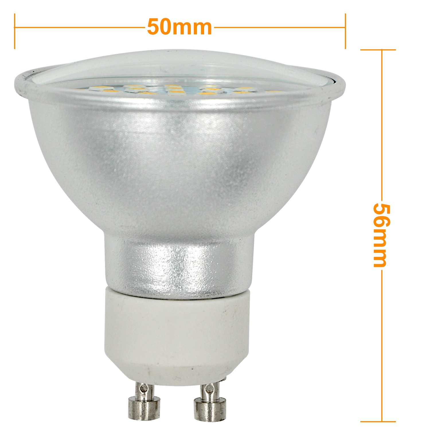 Mengsled Mengs Gu10 6w Led Spotlight 72x 2835 Smd Led Bulb Lamp In Warm White Cool White