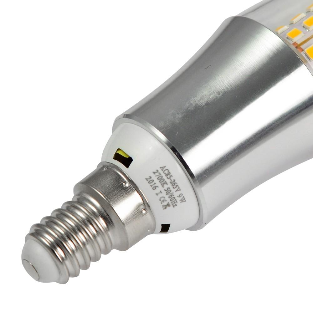 mengsled mengs e14 9w led blunt tip candle light 45x 2835 smd led bulb lamp in warm white. Black Bedroom Furniture Sets. Home Design Ideas
