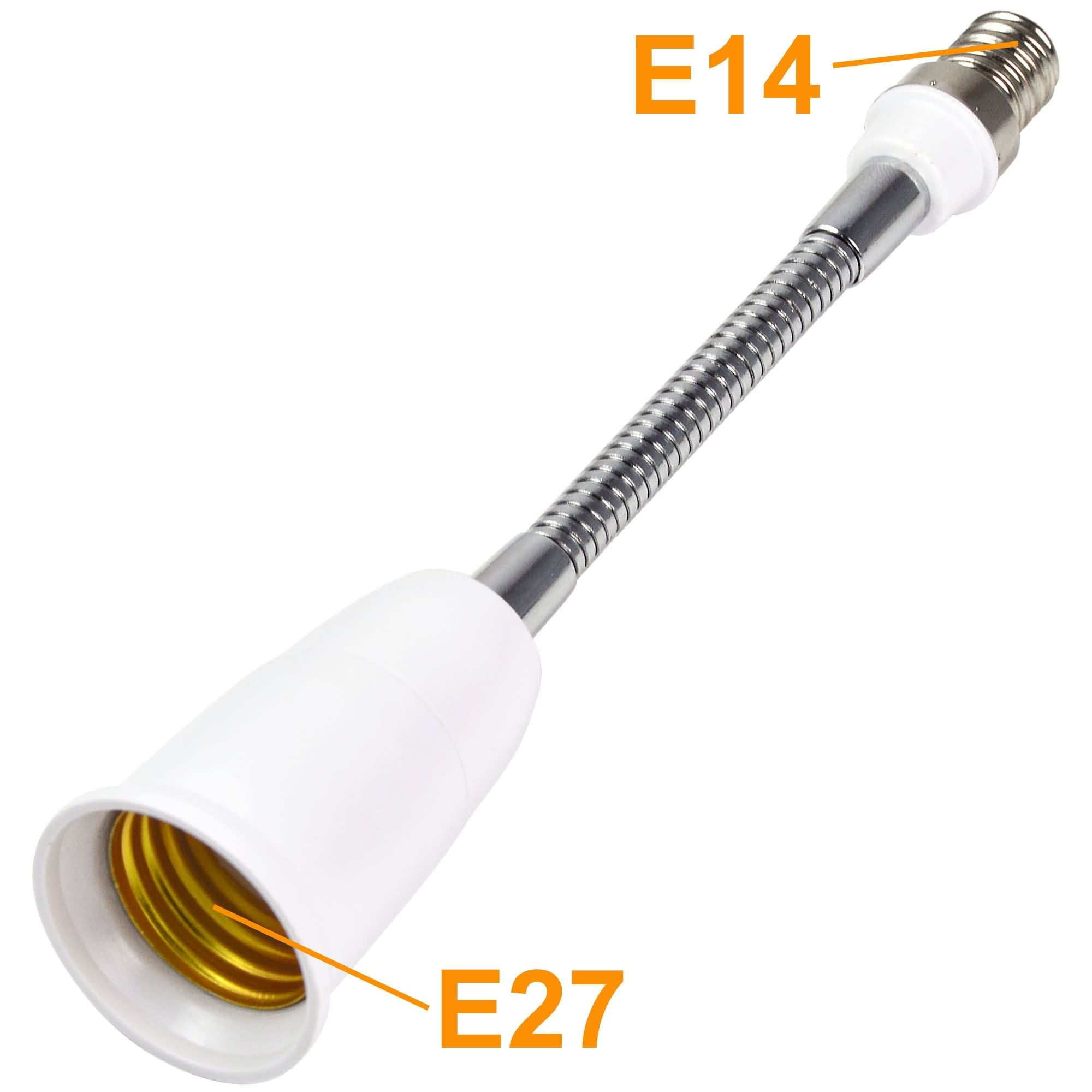 MengsLED – MENGS® 189mm E14 To E27 Light Bulb Flexible Extension Adapter Twist Base Extend Adapter