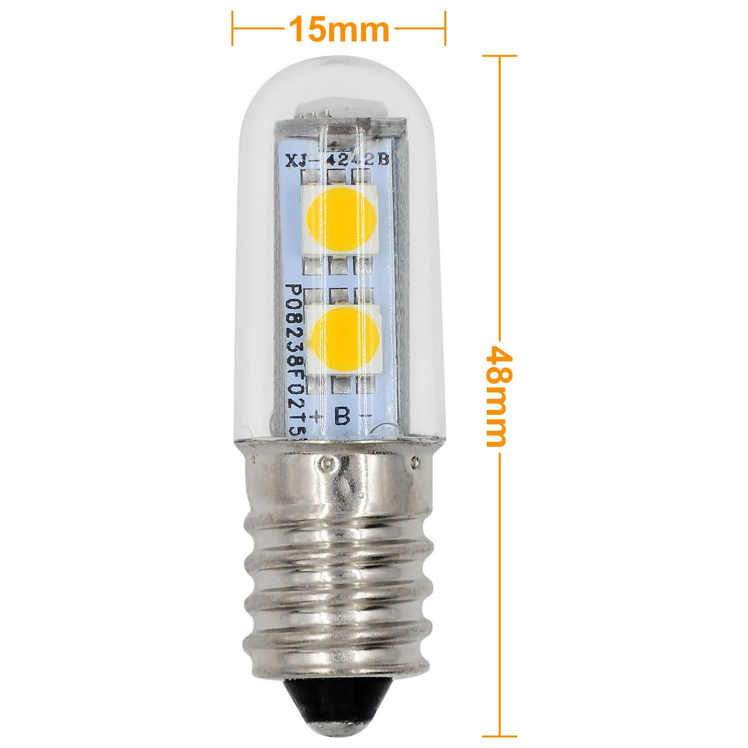 Mengsled Mengs E14 1w Led Corn Light 7x 5050 Smd Leds Led Lamp Bulb In Warm White Cool White