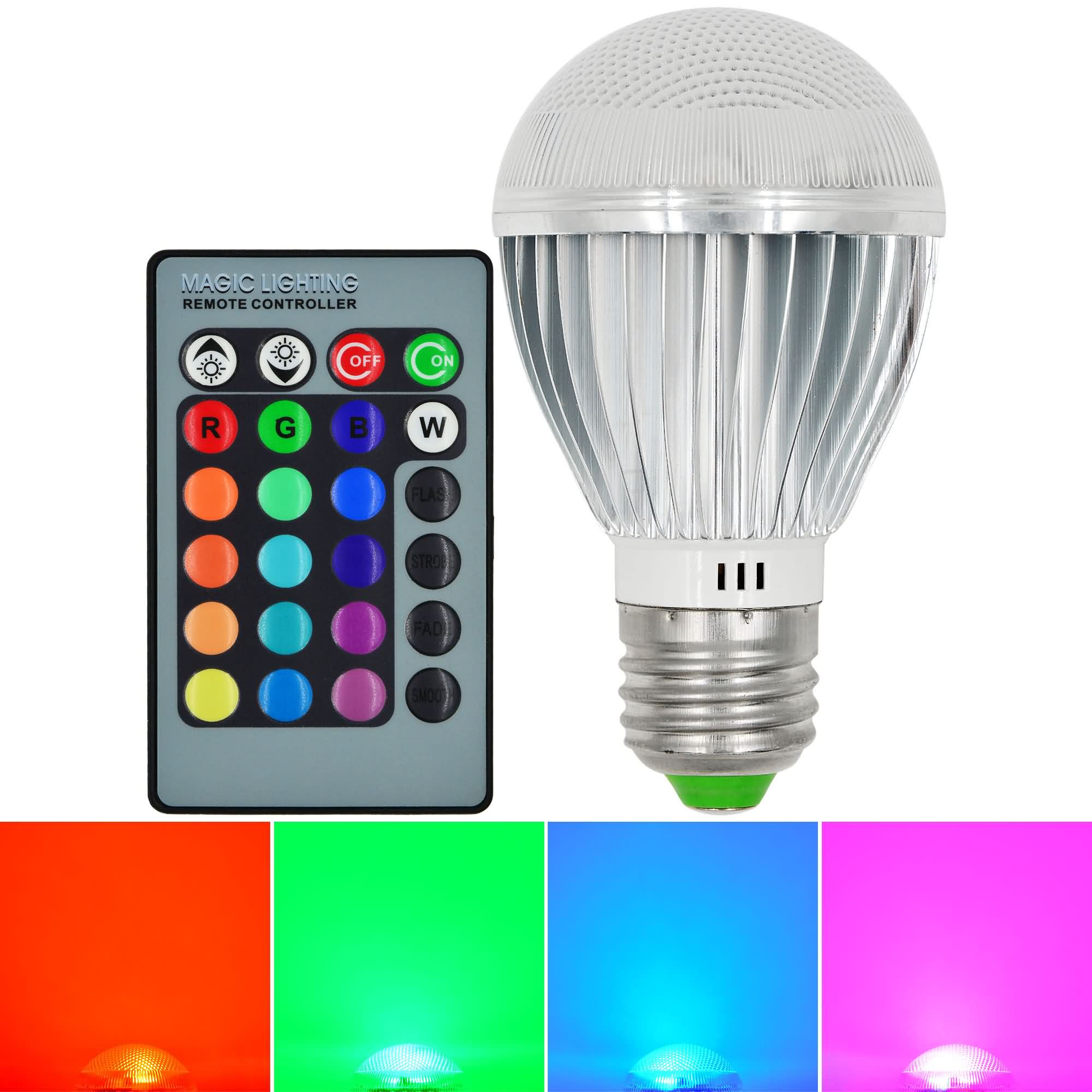 mengsled mengs e27 9w led rgb lamp smd leds led globe light with remote control colour changing. Black Bedroom Furniture Sets. Home Design Ideas