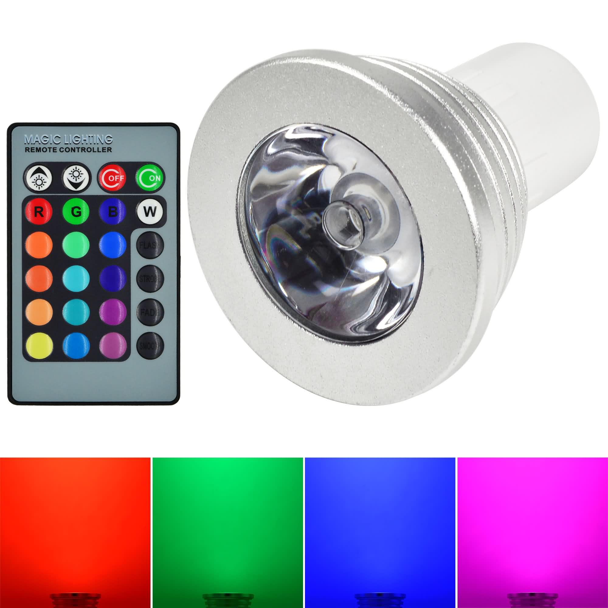 mengsled mengs gu5 3 3w led rgb light 16 colour changing smd leds led spotlight lamp bulb. Black Bedroom Furniture Sets. Home Design Ideas