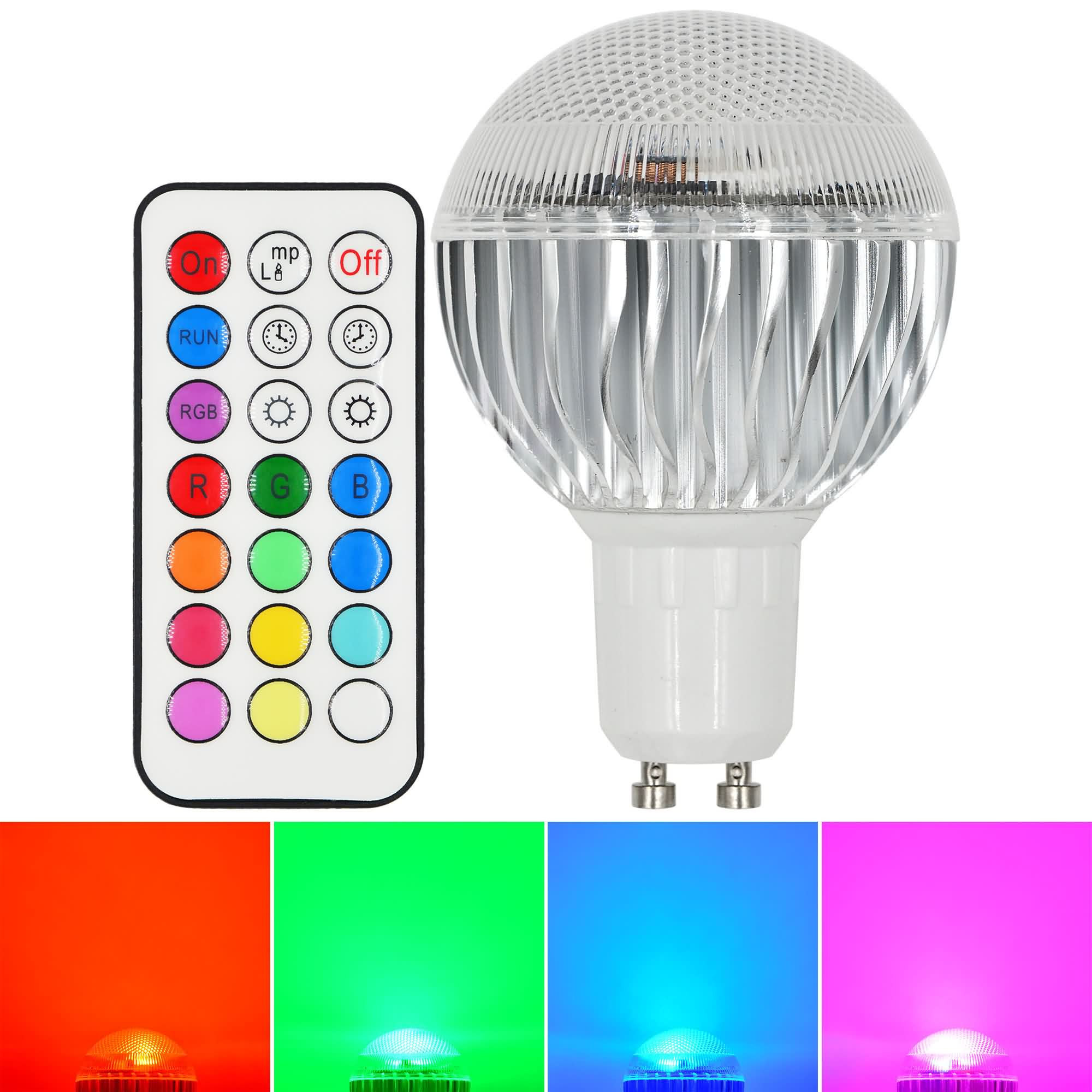 mengsled mengs gu10 8w led rgb light 16 colour changing smd leds led globe lamp bulb with ir. Black Bedroom Furniture Sets. Home Design Ideas
