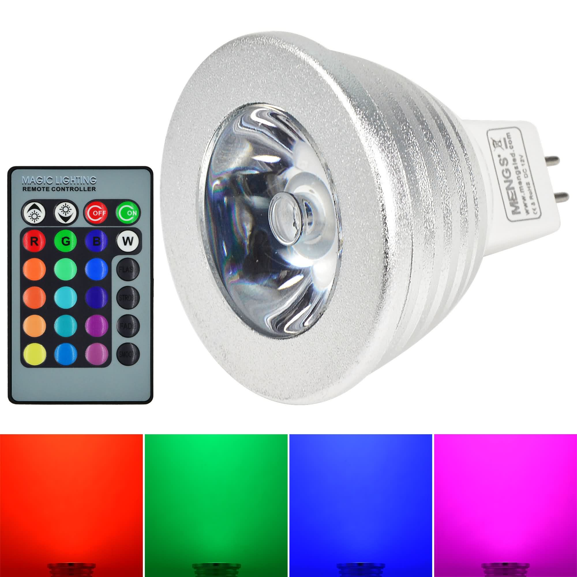 mengsled mengs mr16 3w led rgb light 16 colour changing smd leds led spotlight lamp bulb with. Black Bedroom Furniture Sets. Home Design Ideas