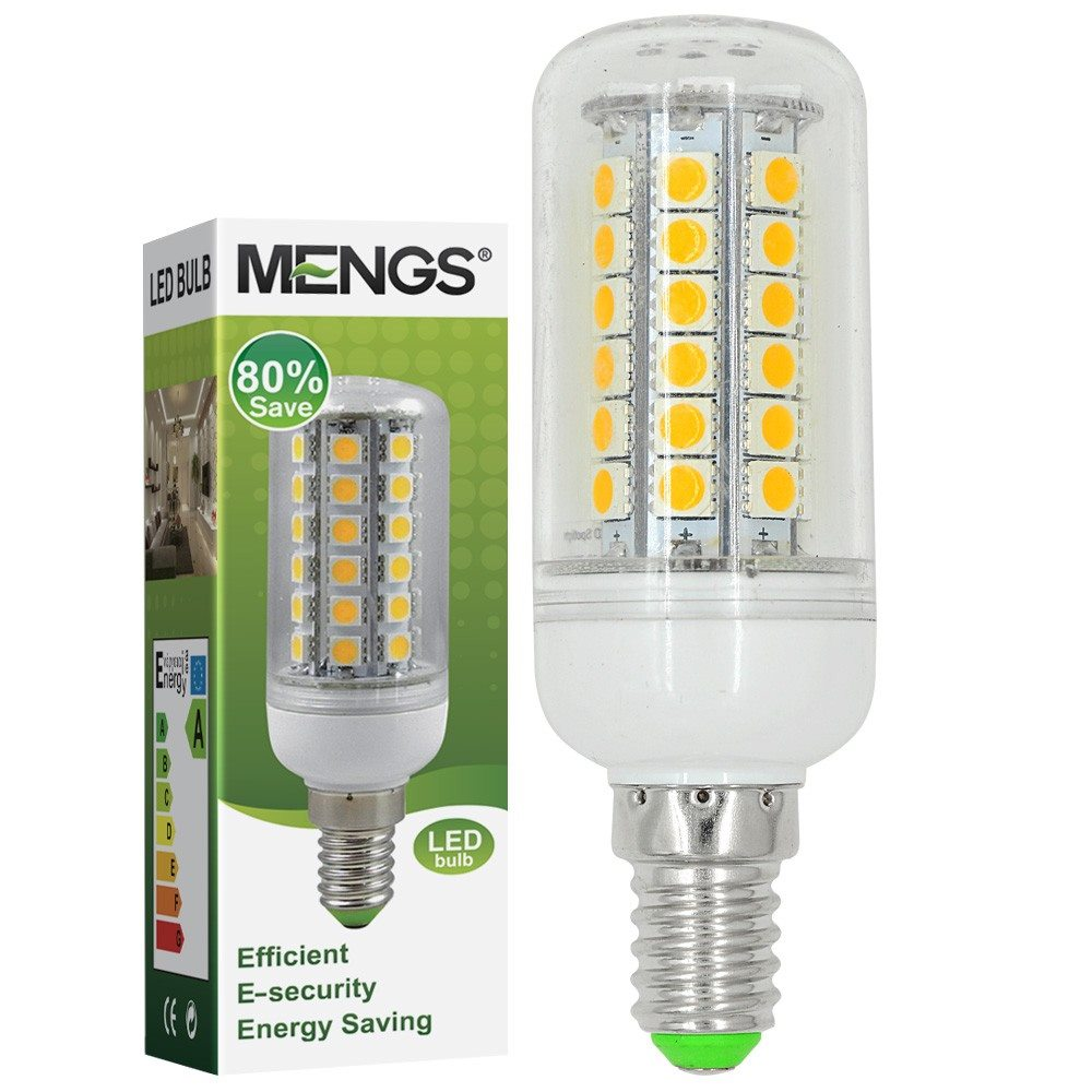 Mengsled Mengs E14 8w Led Corn Light 48x 5050 Smd Leds Led Lamp Bulb Ac 10 30v In Warm Cool