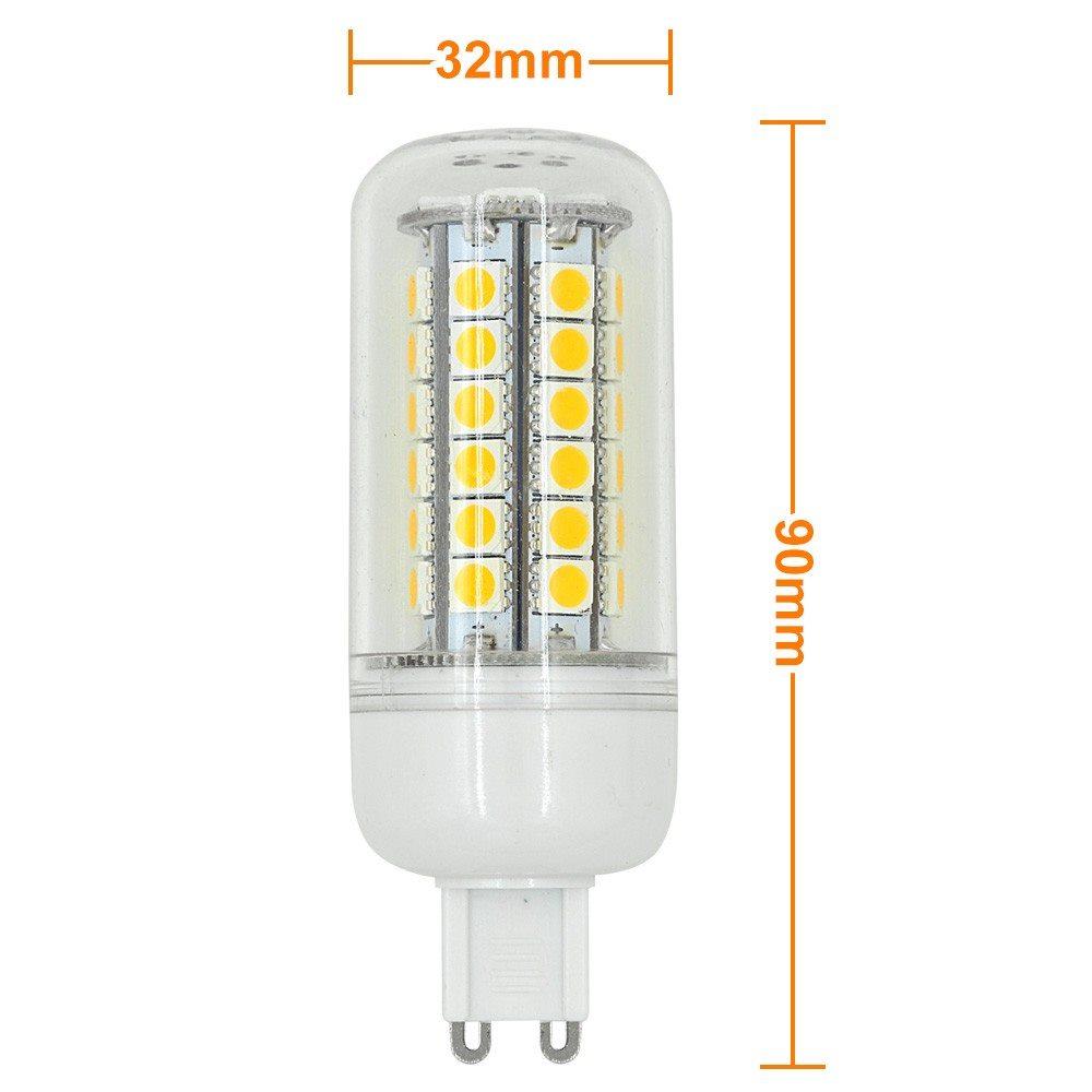 mengsled mengs g9 8w led corn light 48 x 5050 smd leds led lamp bulb ac10 30v in warm cool. Black Bedroom Furniture Sets. Home Design Ideas
