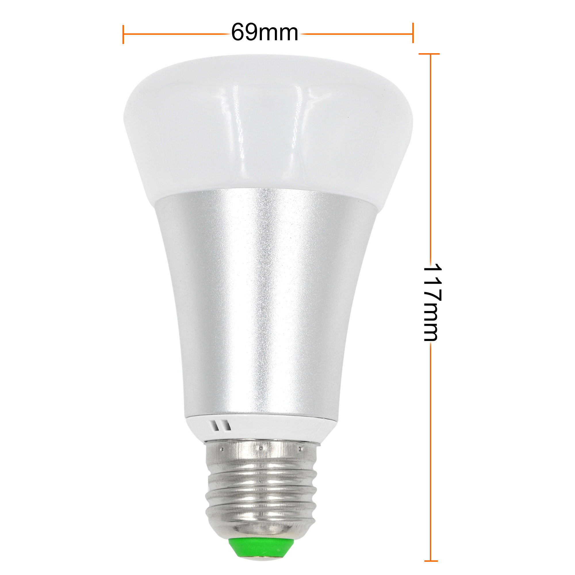 MengsLED – MENGS® E27 10W LED RGB+Cool White Globe Light 12
